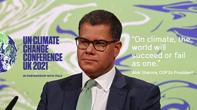 Spanduk: Konferensi Iklim COP 26 Glasgow