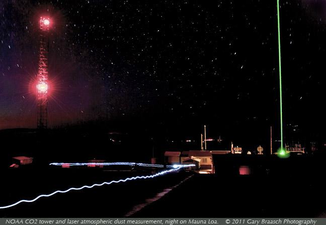 mauna loa co2 लेजर धूल noaa रात मार्च 2011 कॉपीराइट ब्रास्च 648w