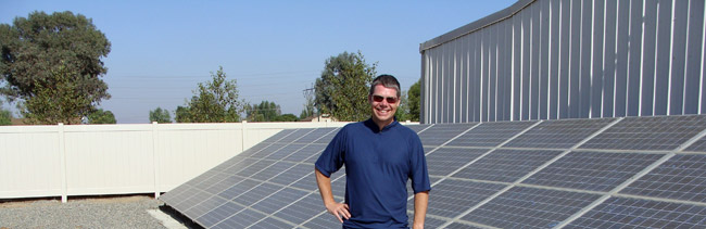 Michael McGee and AISO Solar Panels